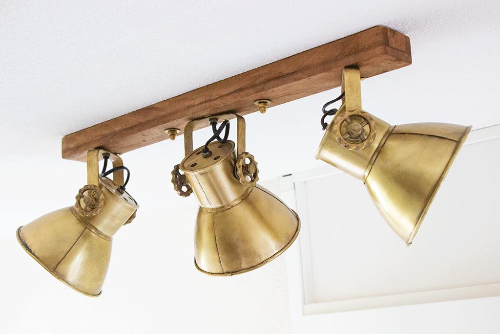 Vintage plafondlamp drielichts Light&Living Elay brons van Directlampen.nl