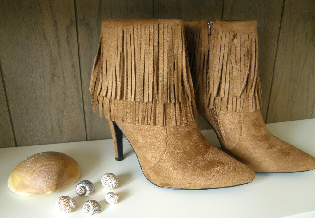 Shopping/Fashion - Fringe Booties Cognac Mindandbeauty.nl