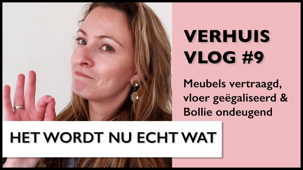 Verhuisvlog #9 | Meubels vertraagd, vloer geëgaliseerd & Bollie ondeugend