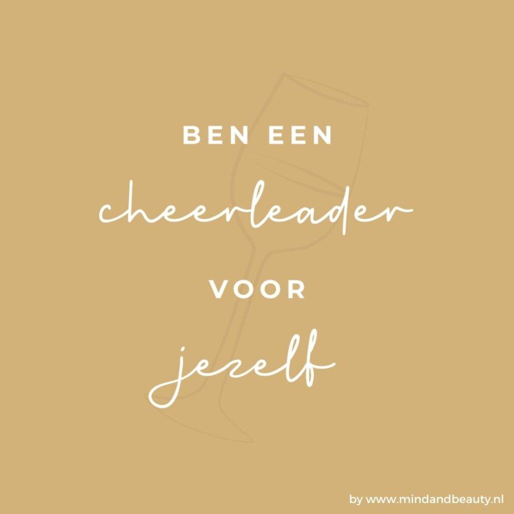 Ondernemerstip ben een cheerleader voor jezelf