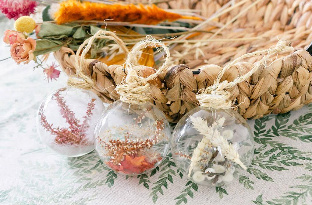 DIY   Herfst glazen decoratieballen